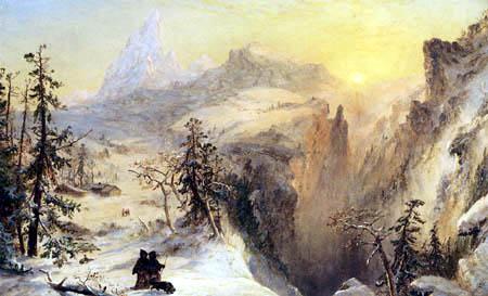 Jasper Francis Cropsey - Winter in der Schweiz