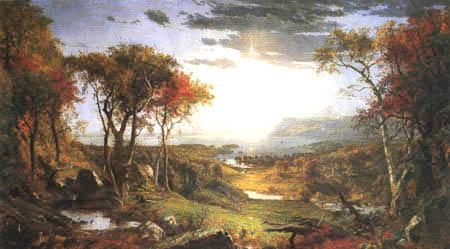 Jasper Francis Cropsey - Herbst am Hudson River