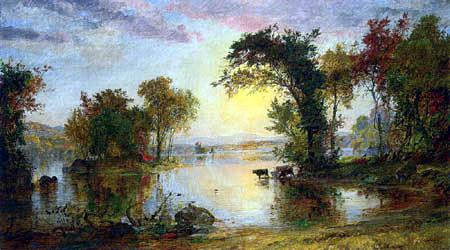 Jasper Francis Cropsey - Autumn in Susquehanna