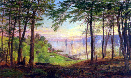 Jasper Francis Cropsey - Hudson River from Dudley´s Grove