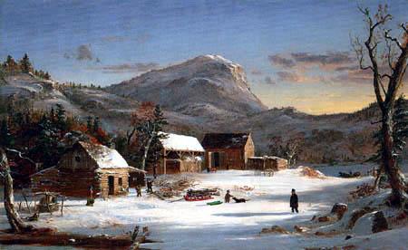 Jasper Francis Cropsey - Winterszene, Ramapo Valley