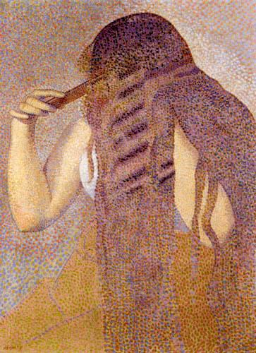 Henri Edmond Cross - Beim Haare kämmen