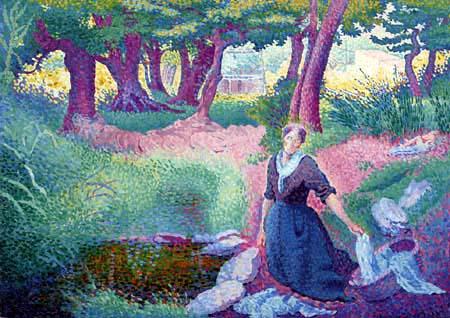 Henri Edmond Cross - Die Wäscherin
