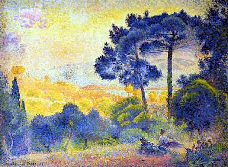 Henri Edmond Cross - Landschaft in der Provence