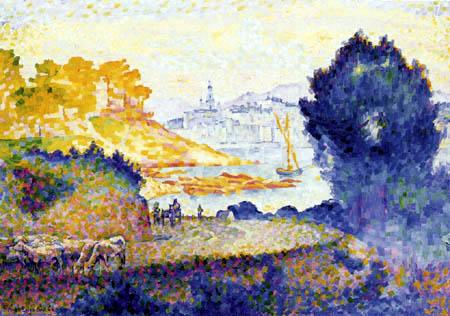 Henri Edmond Cross - Blick auf Menton