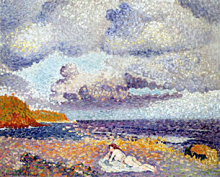 Henri Edmond Cross - Before the Storm, The Bather Woman
