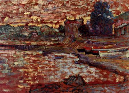 Henri Edmond Cross - Boats Aground at Lavandou
