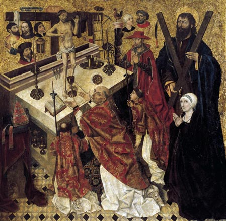 Diego de la Cruz - The Mass of St. Gregory