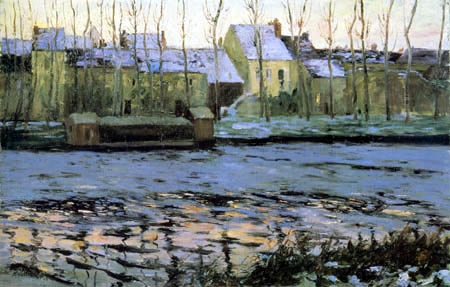 Maurice Cullen - Winter in Moret