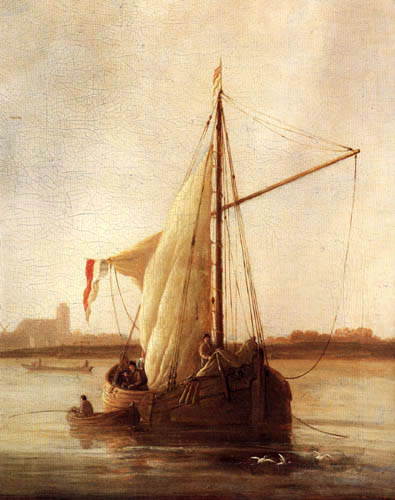 Aelbert Cuyp - Dordrecht, sunrise, detail