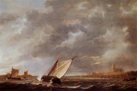 Aelbert Cuyp - Thunderstorm over the Maas at Dordrecht
