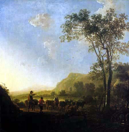 Aelbert Cuyp - Paysage avec berger et de bouvier
