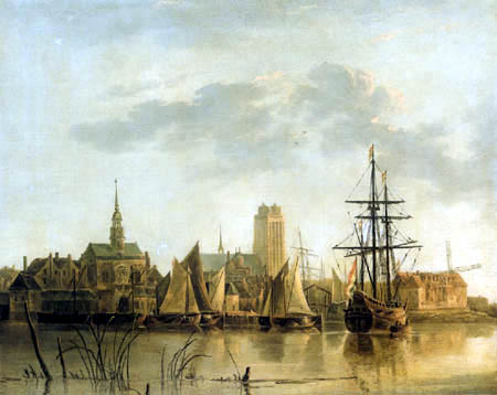 Aelbert Cuyp - Dordrecht bei Sonnenuntergang, Kopie