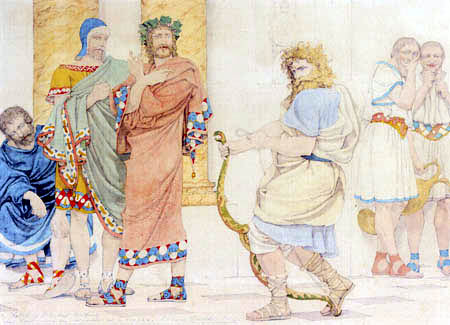 Richard Dadd - Ulysses disguised as a beggar