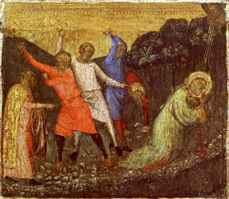 Bernardo Daddi - Steinigung des Heiligen