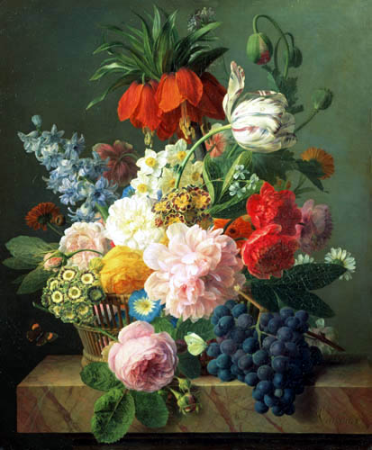 Jan Frans van Dael - Still Life with Flowers and Fruits