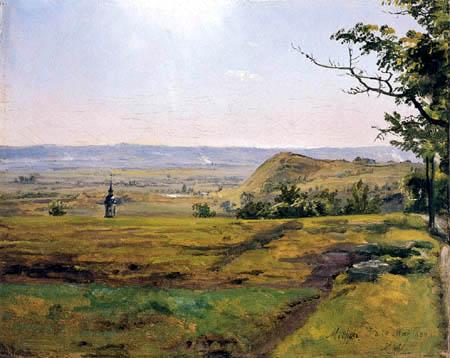 Johan Christian Dahl - Kirchturm bei Meissen