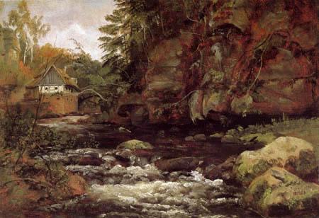 Johan Christian Dahl - Mill near Liebethal