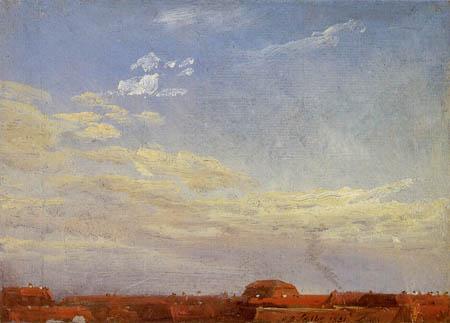 Johan Christian Dahl - Sky over Dresden's Neustadt