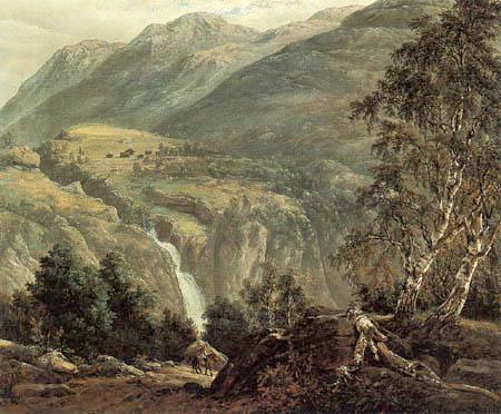 Johan Christian Dahl - Landscape in Naerødalen
