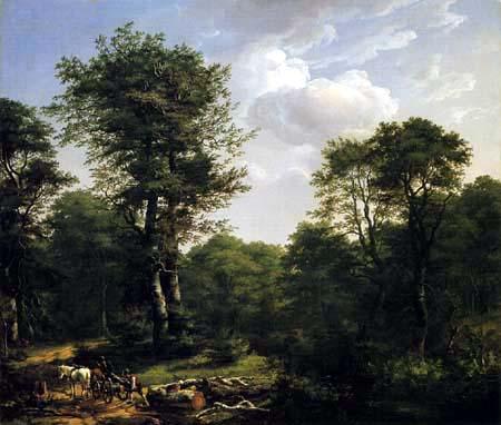 Johan Christian Dahl - Waldstück bei Engelholm (Ängelholm)