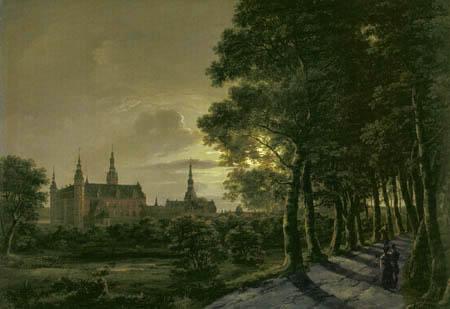 Johan Christian Dahl - Frederiksborg Castle