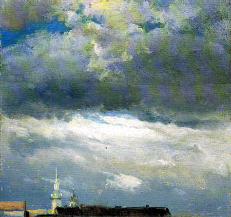 Johan Christian Dahl - Storm Clouds over the Castle Tower of Dresden