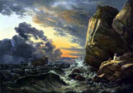Johan Christian Dahl - Morning after a night of storm