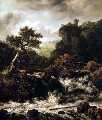 Johan Christian Dahl - Mountain Landscape with a Waterfall