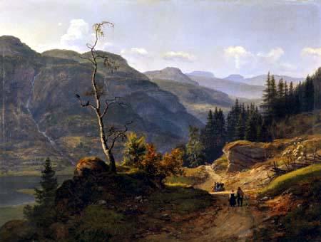 Johan Christian Dahl - Valley in Valdres