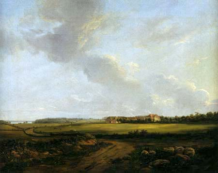 Johan Christian Dahl - Blick auf Engelholm, Præstø