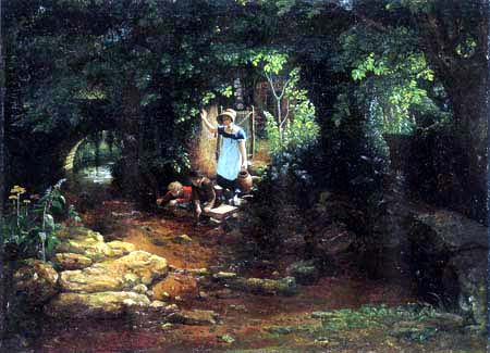 Francis Danby - Children at a stream