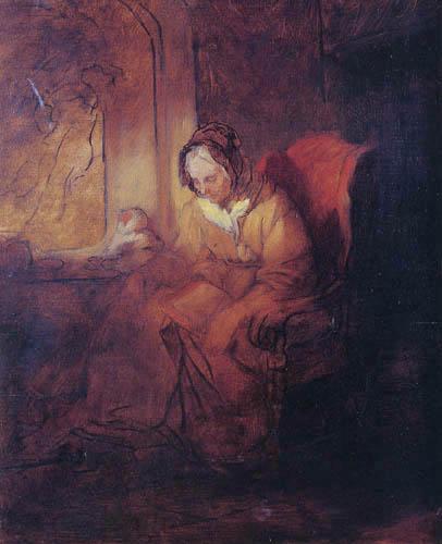 Josef Danhauser - Die Bibelleserin