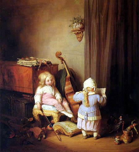 Josef Danhauser - Die kleinen Virtuosen
