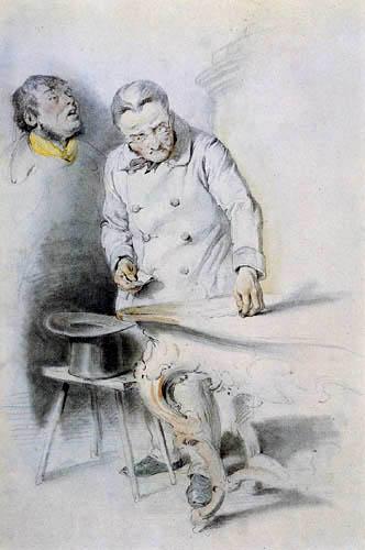 Josef Danhauser - A Man Counting Money