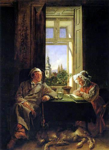 Josef Danhauser - Schlummernde