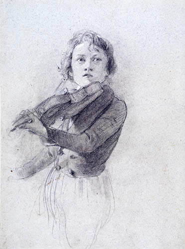 Josef Danhauser - Violine spielender Knabe