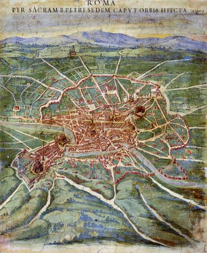 Ignazio Danti - Plan von Rom