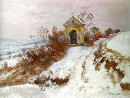 Hugo Darnaut - Chapel in the snow, Plankenberg