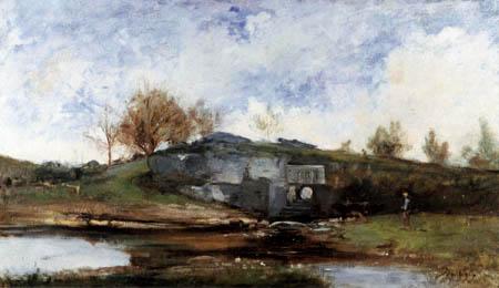 Charles-François Daubigny - Die Schleuse im Tal von Otevoz