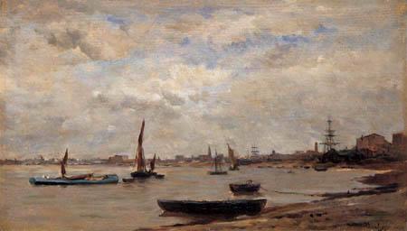 Charles-François Daubigny - The Thames delta