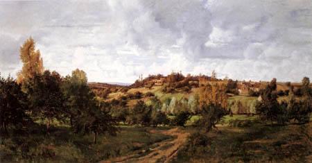 Charles-François Daubigny - Landscape near Auvers