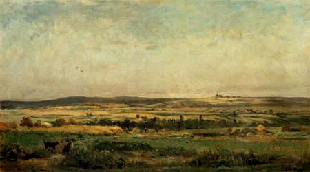 Charles-François Daubigny - La récolte de céréales