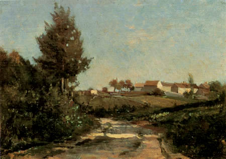 Charles-François Daubigny - Das Dorf La Bonneville