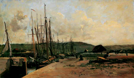 Charles-François Daubigny - Ein Fischerhafen