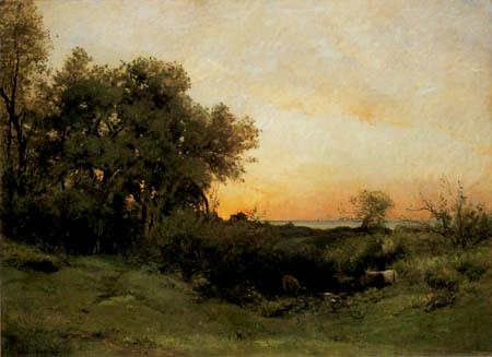 Charles-François Daubigny - Ein Sonnenuntergang