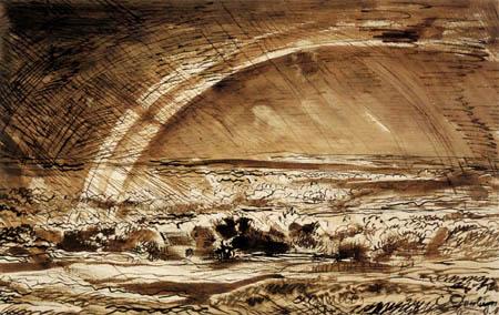Charles-François Daubigny - Thunderstorm landscape