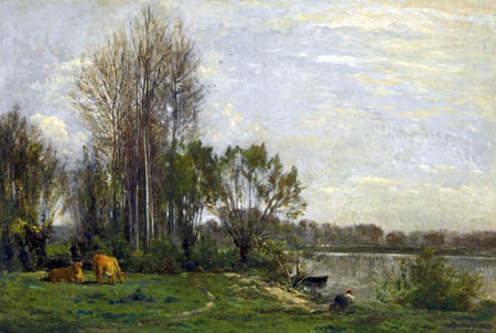 Charles-François Daubigny - Riverbank of the Oise