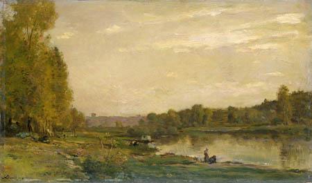 Charles-François Daubigny - Riverbank of the Oise