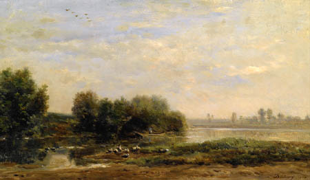 Charles-François Daubigny - Enten an der Oise
